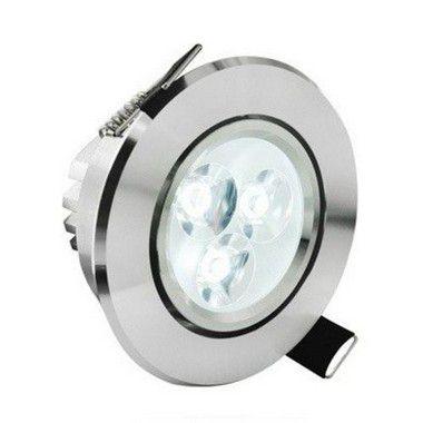 Spot Dicróica 3W LED Direcionável De Aluminio Branco Frio 6000k