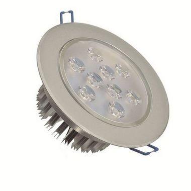 Spot Dicróica 9W LED Direcionável De Aluminio Branco Frio 6000k