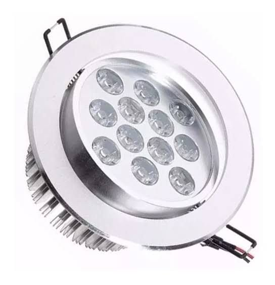 Spot Dicróica 12W LED Direcionável De Aluminio Branco Quente 3000k