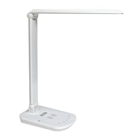 Luminária LED de Mesa 8W com Carregador de Celular Sem Fio - Branca