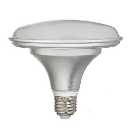 Lâmpada Prato 18W LED Bivolt Prateada Branco Frio 6000k