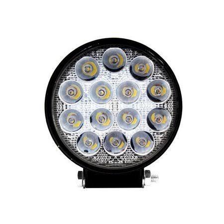 Farol de Milha 42W LED Redondo Auxiliar Automotivo