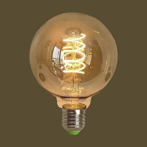 Lâmpada 4W LED Globo Espiral G125 Vintage Branco Quente 2200K