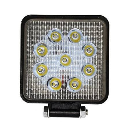 Farol de Milha 27W LED Quadrado Auxiliar Automotivo
