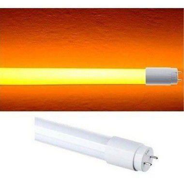 Lâmpada 10W 60cm LED Tubular T8  - Ambar