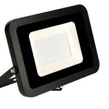 Refletor MicroLED Ultra Thin 100W Black Type Branco Quente 3000K