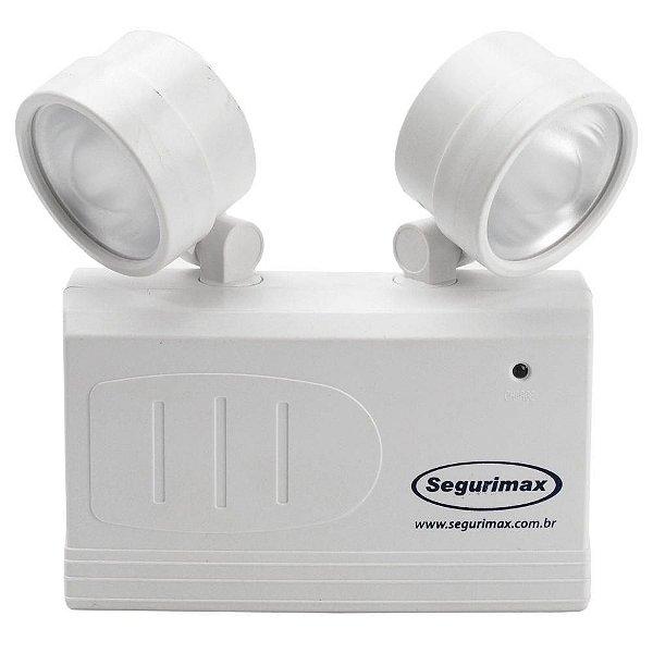 Luminária de Emergência LED 200 Lúmens | 2 Faróis