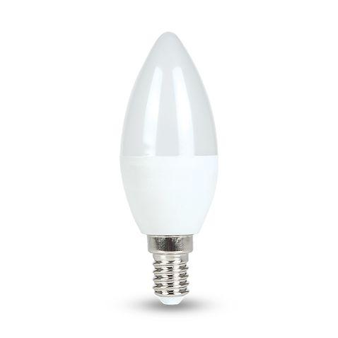 Lâmpada 4W LED Vela E14 Leitosa Branco Frio - 6500K