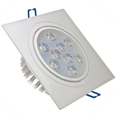 Spot 9W LED Dicróica Direcionável Quadrado Gesso Sanca De Embutir Branco Quente 3000k