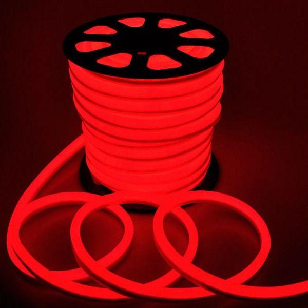 Fita Mangueira LED 220v 100 Metros Flexível Neon Vermelho