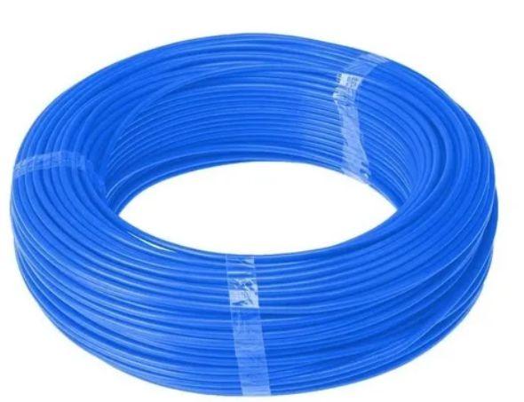 Cabo Energia 100 Mts Fio Elétrico Flexível 4,0mm Azul