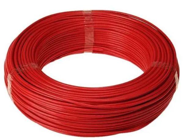 Cabo Energia 100 Mts Fio Elétrico Flexível 4,0mm Vermelho