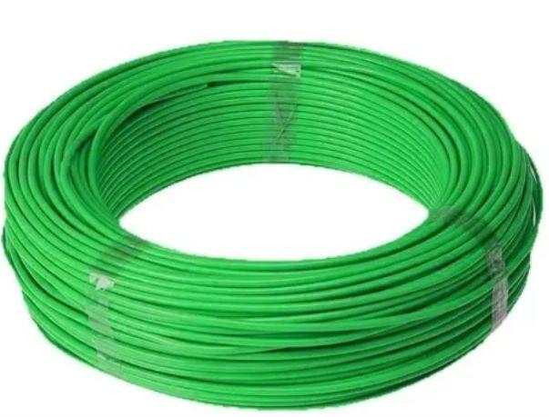 Cabo Energia 100 Mts Fio Elétrico Flexível 10,0mm Verde