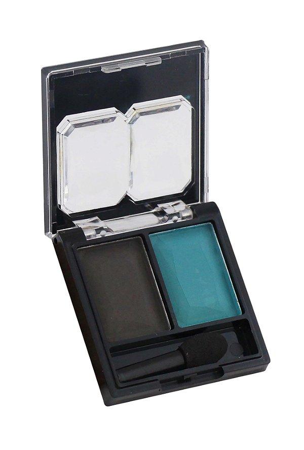 sombra duo cores combinadas Fenzza - C1 preto e azul