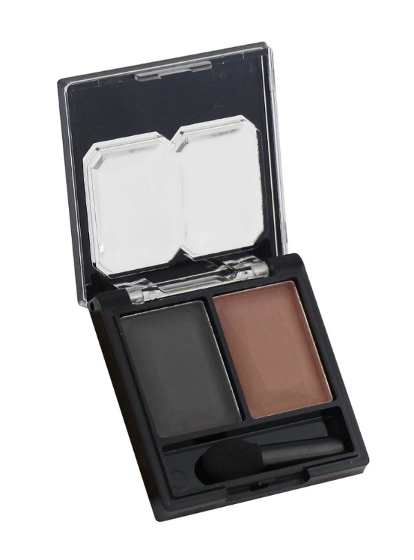 sombra duo cores combinadas Fenzza - C2 carbono e creme