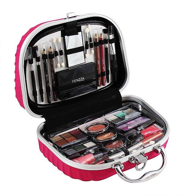 maleta de maquiagem Fenzza pink
