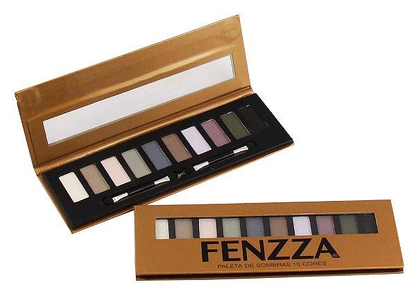 paleta de sombras 10 cores Fenzza Make Up