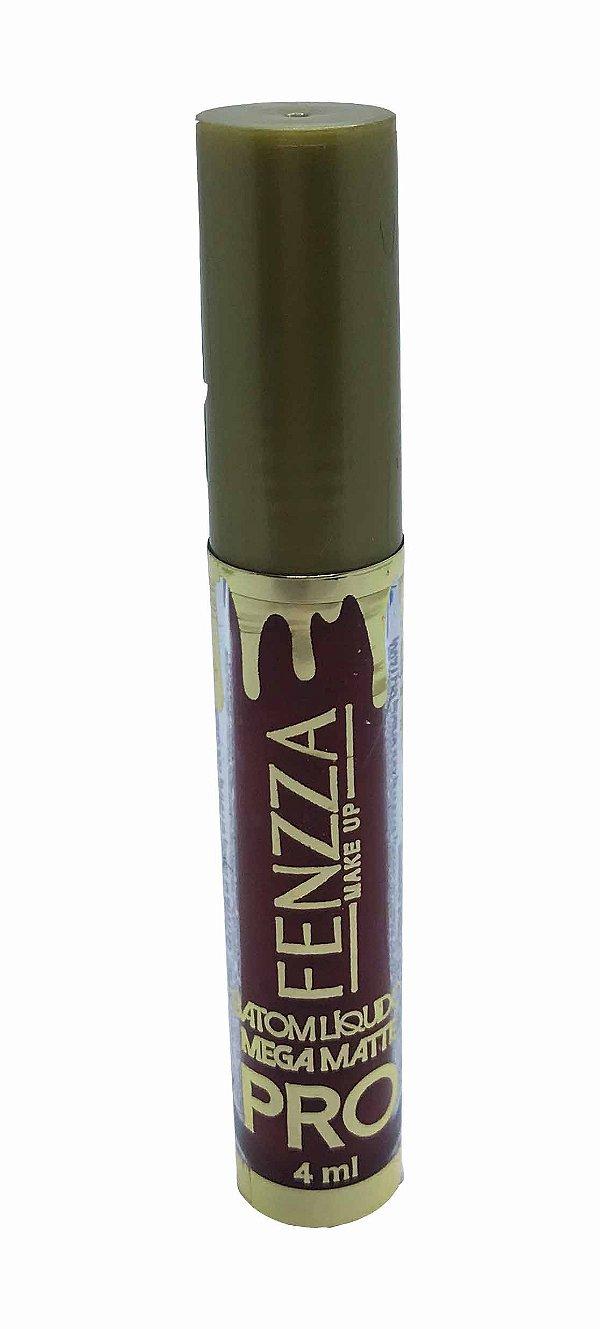 batom líquido mega matte pro Fenzza Make Up - barbara
