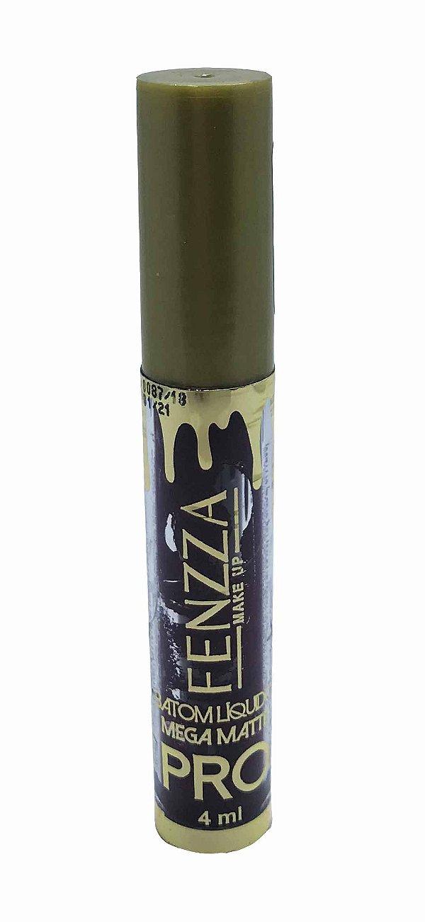batom líquido mega matte pro Fenzza Make Up - amora