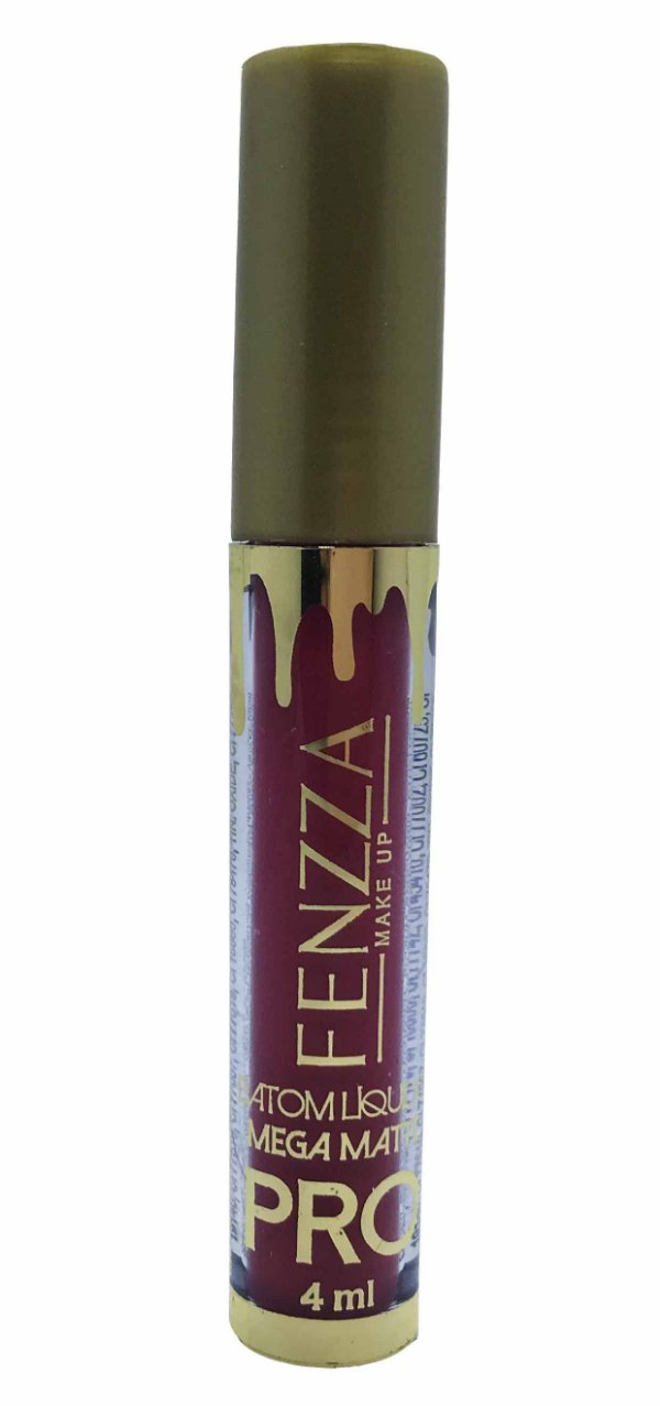 batom líquido mega matte pro Fenzza Make Up - sandy