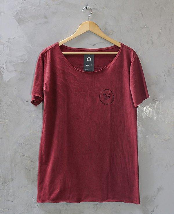 Camiseta Gola Canoa Vermelha Roubar Você