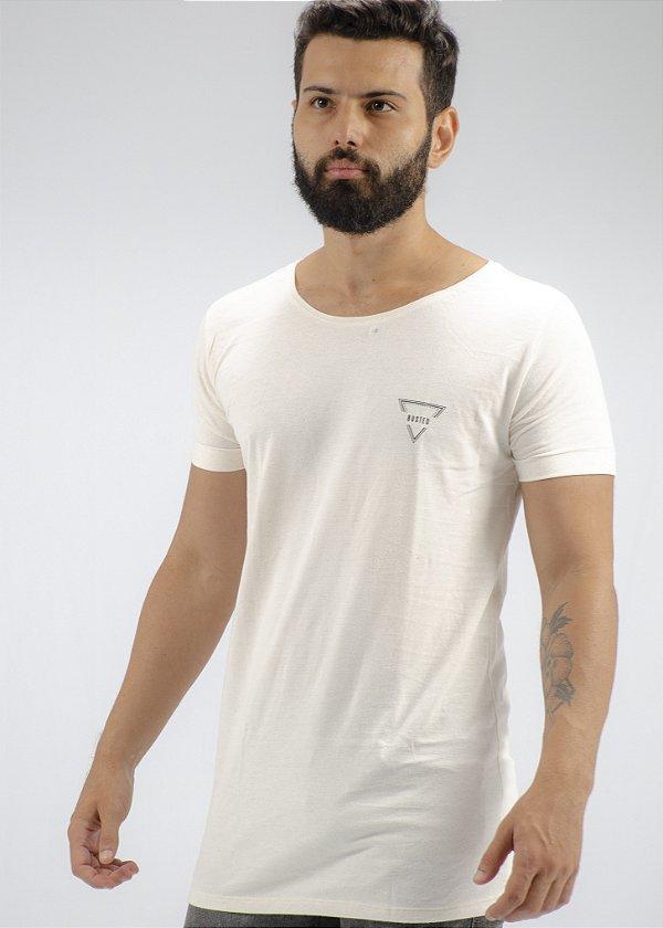Camiseta Gola Canoa Linho Off White Triangulo Busted