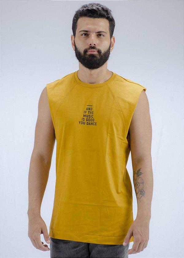 Camiseta Regata Machão Amarela Eyes
