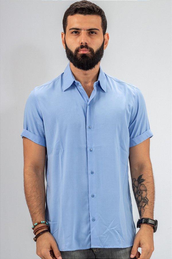 Camisa de Botão Azul Essence