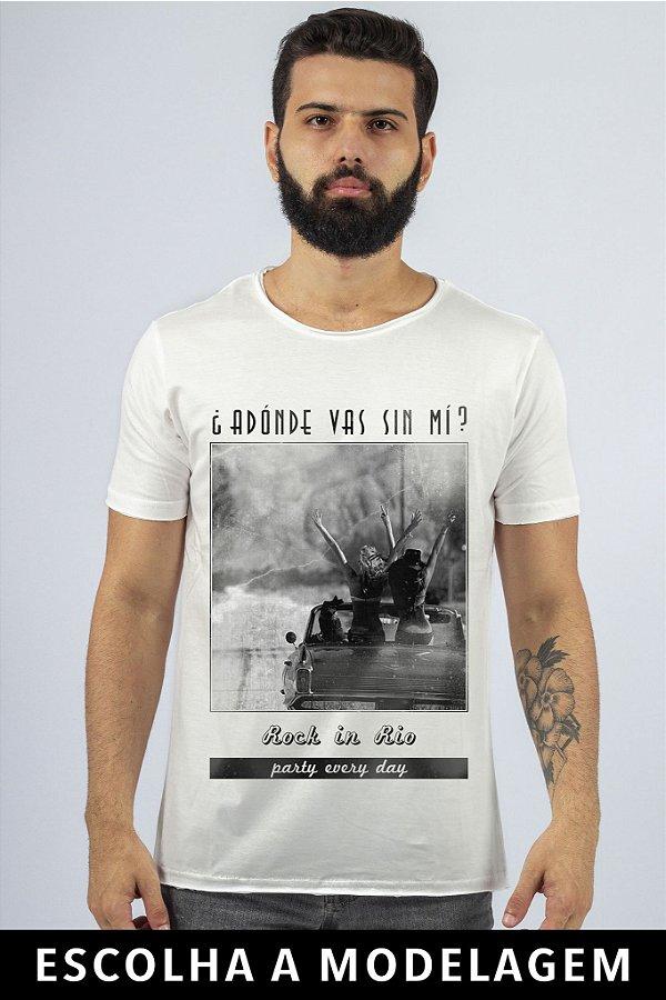 Camiseta Branca Adonde Vás