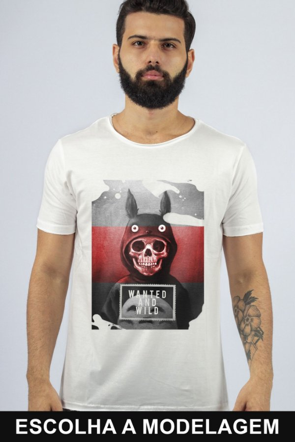 Camiseta Branca Wanted And Wild