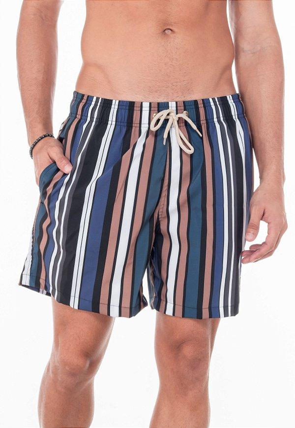 Beach Short Blue Striped