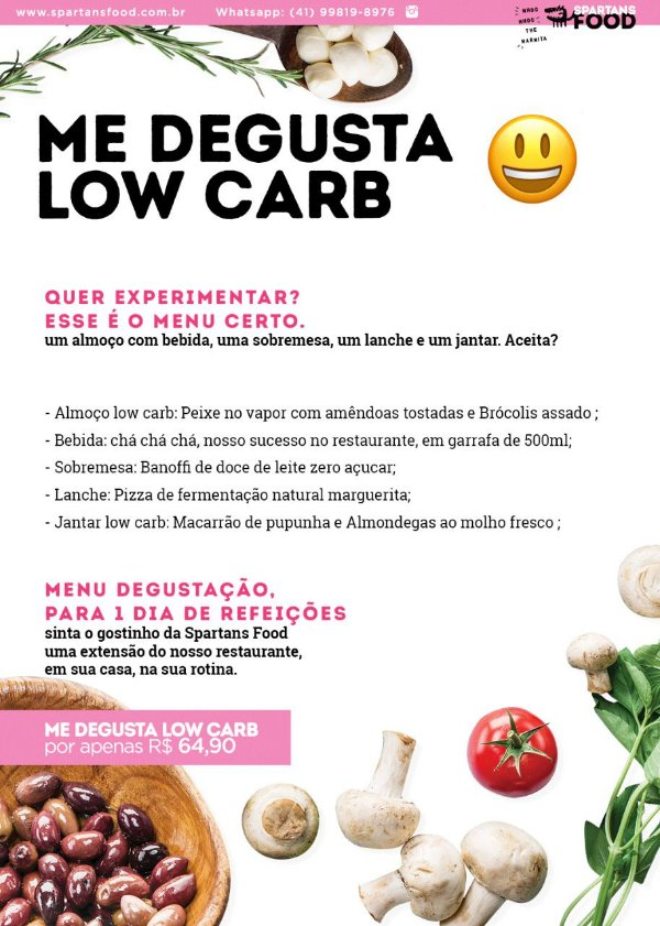 Menu me degusta- Low Carb
