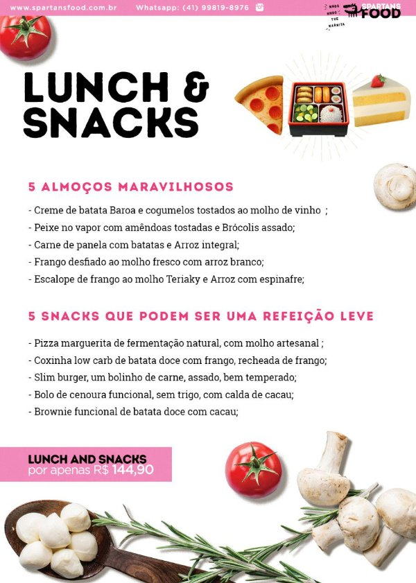 Lunch & Snacks