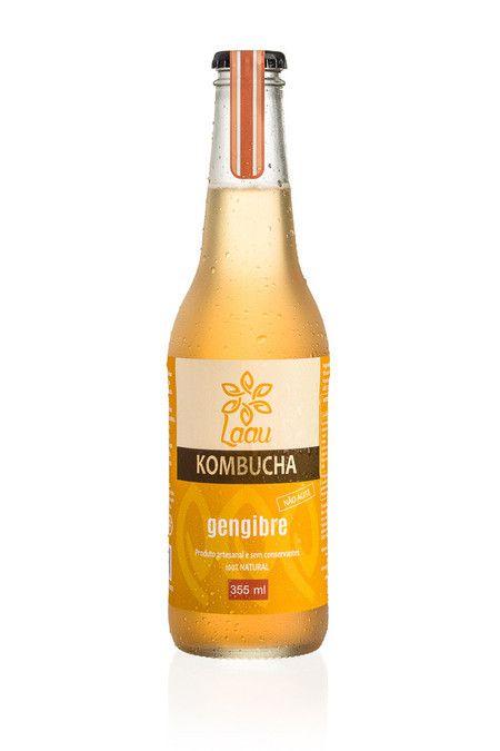 Laau Kombucha - sabor gengibre - 355 ml