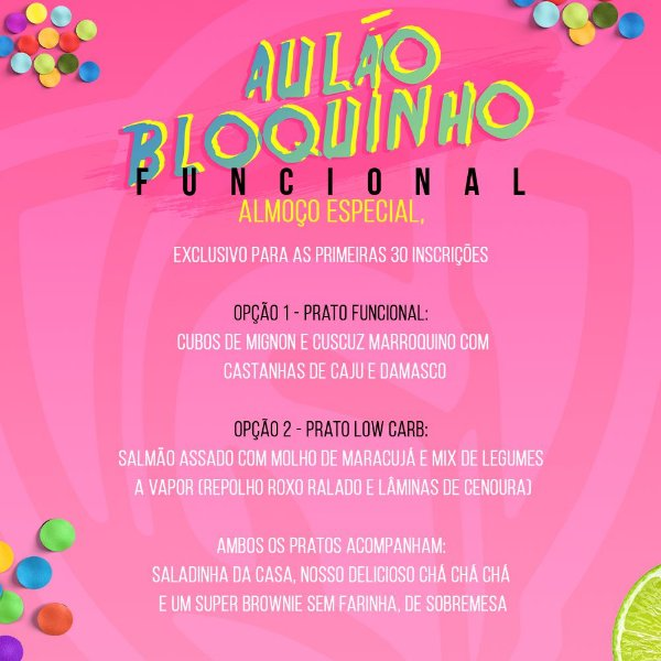 BLOQUINHO FUNCIONAL- Aulão pré carnaval