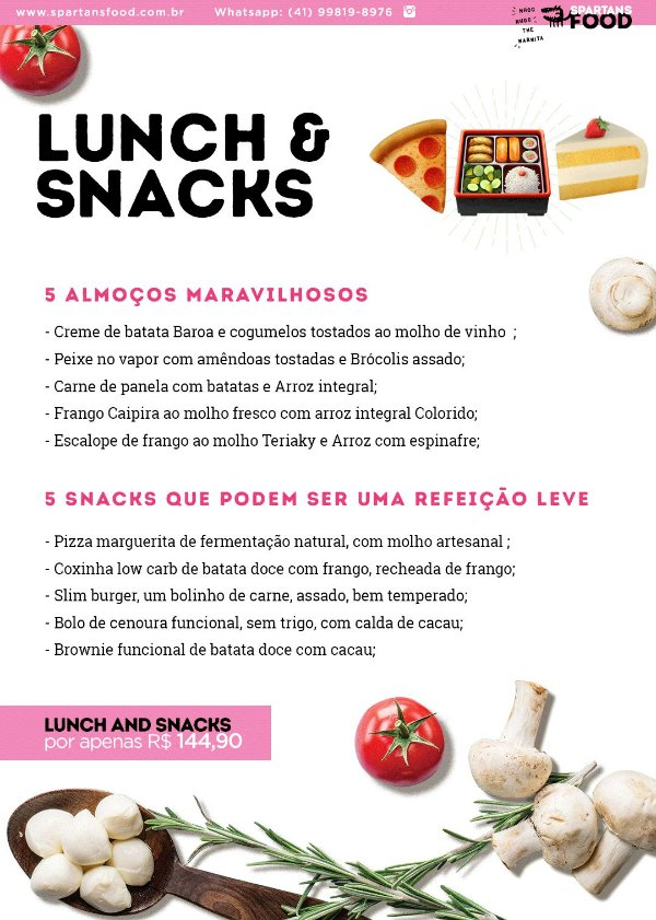 Menu Lunch & Snacks
