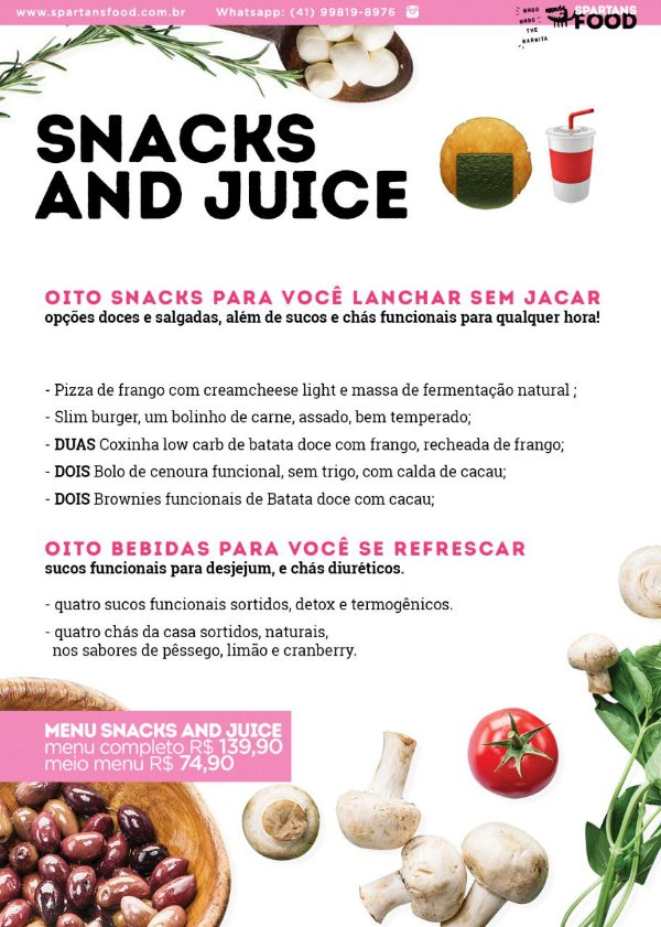 Menu Snack And Juice