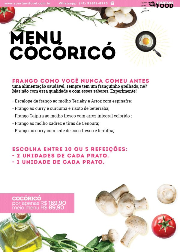 Meio Menu Cocoricó