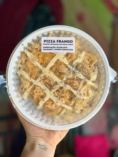 MINI PIZZA CONGELADA (Frango com cream cheese light)