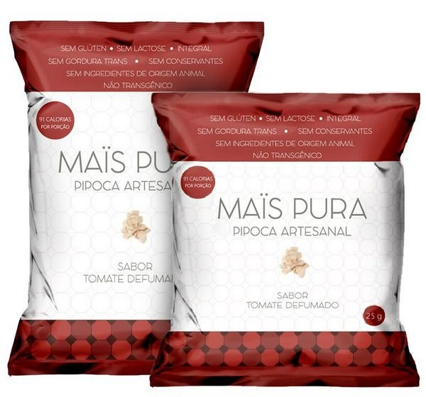 PIPOCA SABOR TOMATE DEFUMADO (25g)