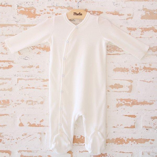 Pijama orgânico - com pezinho - Branco