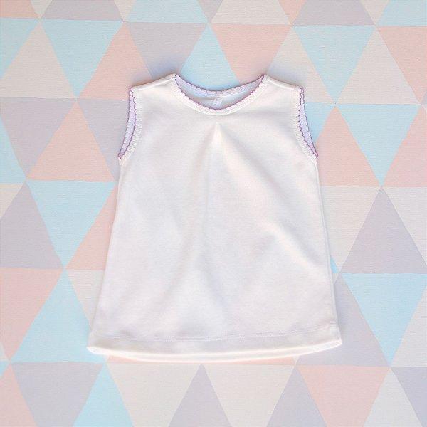 Camiseta orgânica - Regata - Lilás