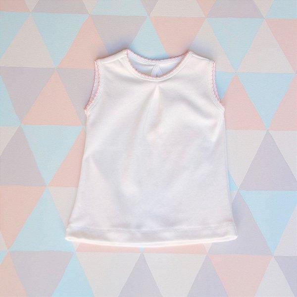 Camiseta em algodão orgânico - Regata - Rosa