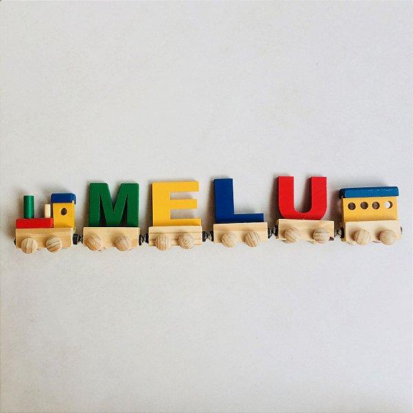 Trenzinho de letras em madeira (vagão magnético individual)