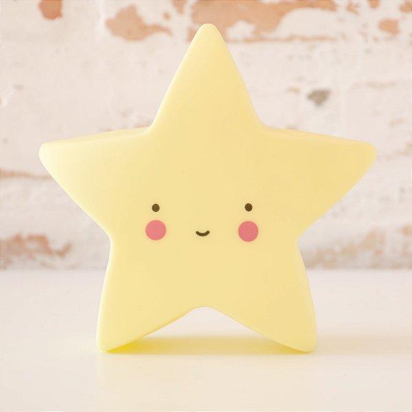 Luminária com LED Estrela Mini - Amarela