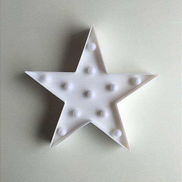 Luminária com LED Estrela - Branca