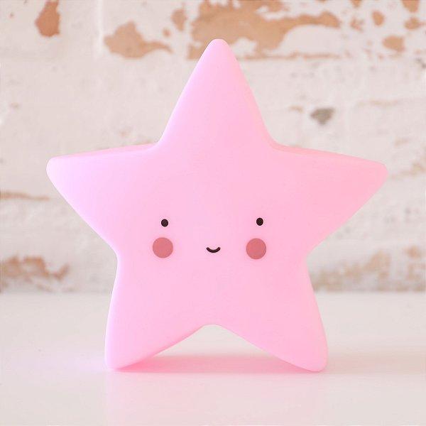 Luminária com LED Estrela Mini - Rosa