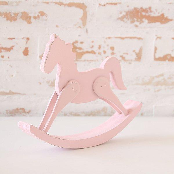Cavalinho de Balanço em madeira - Rosa