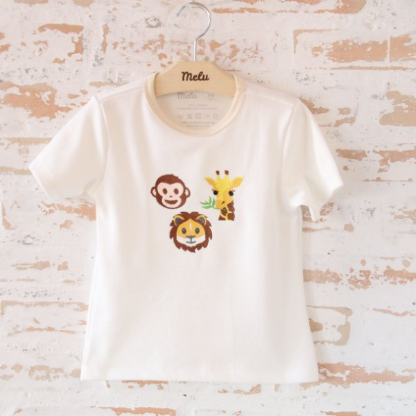 Camiseta orgânica - Bordado Safari