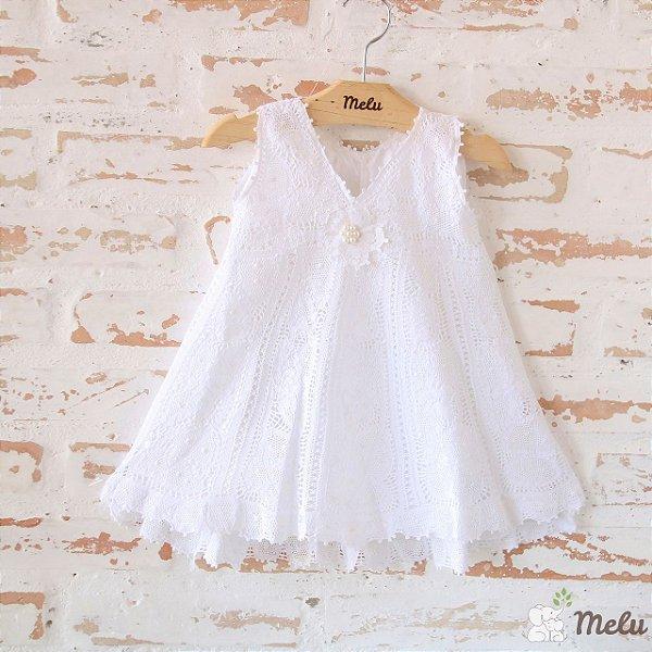 Vestido de Renda Renascença - Sofia - 6 a 9 meses